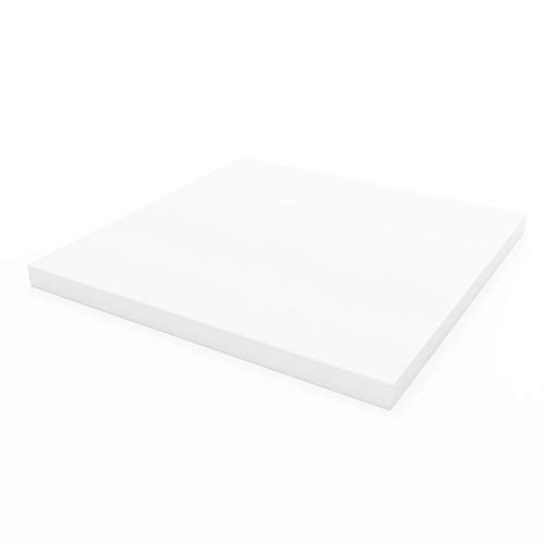 Linenspa LS1161635UF High Density Squares- Replacement Cushion for Sofa or Chairs -Multiple Sizes Upholstery Foam, 16 X 16, 1' Depth