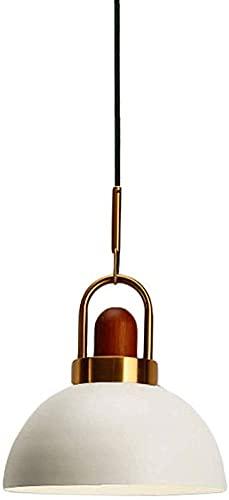 Modern eenvoudig metalen ijzeren hangend licht met houten decoratief messing handvat Hangende verlichting Macaron Hanglamp Plafondverlichtingsinstallatie voor keukeneiland Trap Loft Restaura