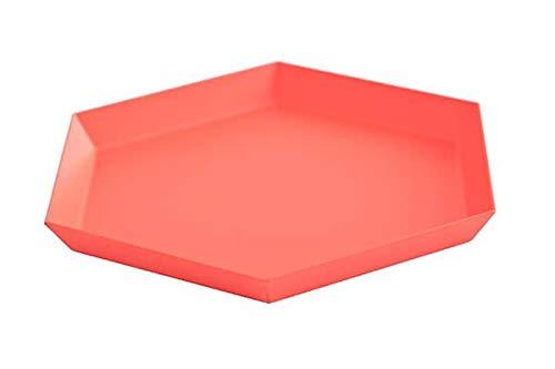mds Kaleido, Plateaux en Acier laqué, Existe en Cinq astucieuses Formes géométriques pour des usages Multiples - Kaleido S - 22 x 19 cm, Rouge