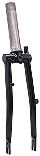 Deporte al Aire Libre Twopse Titanium Bike Fork For Brompton Plegable Bicicleta Frontal Tenedor Triángulo Trasero Marco 1 y 18'Ligero 16' Tamaño Original Parte (Color : Black Color Fork)