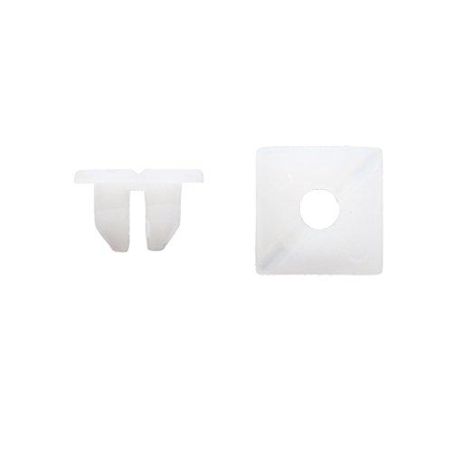 sourcing map 50Pcs Rivet fixation plastique blanc Clips retenue 11mm