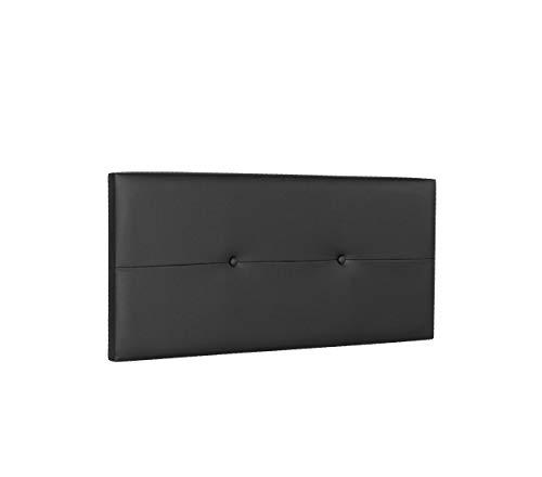 DHOME Cabecero de Polipiel o Tela AQUALINE Pro cabeceros Cabezal tapizado Cama Lujo (Polipiel Negro, 110cm (Camas 80/90/105))