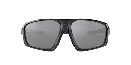 OO9402 Field Jacket Rectangular Sunglasses, Polished Black/Prizm Black Polarized, 64 mm