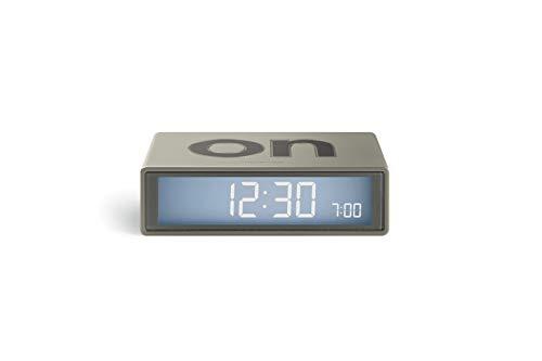 Lexon Flip Plus Travel Reversible LCD Alarm Clock Radio Controlled - Gold Glossy
