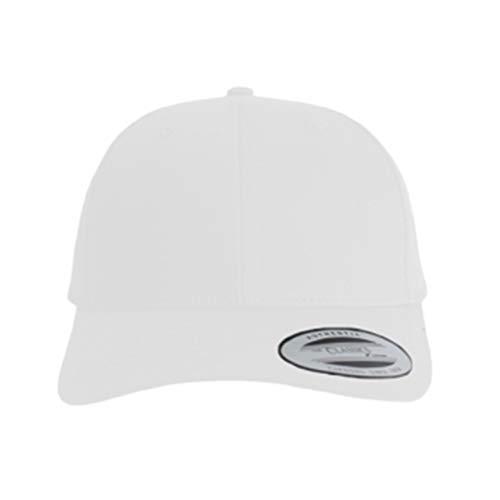 Indula Shopsystem – Bandana curvada Tie Snapback – Gorra con bandana – Personalizar, imprimir, con nombre o logotipo de empresa o foto – Impresión flexible Blanco Talla única