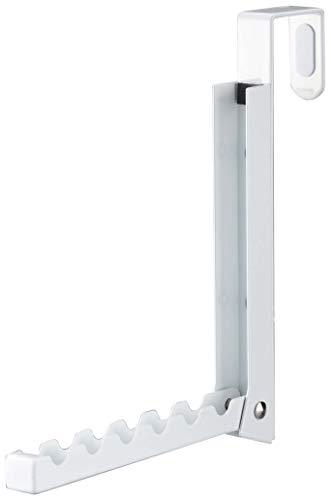 山崎実業(Yamazaki) 折り畳みドアハンガースマート ホワイト 2×7~20.5×20cm 7161