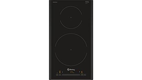 Balay 3EB930LQ - Placa modular de inducción, 2 Zonas, 30 cm, 175 Wh/kg , Negro, Control Deslizante con 17 niveles de cocción, Programación de tiempo de cocción