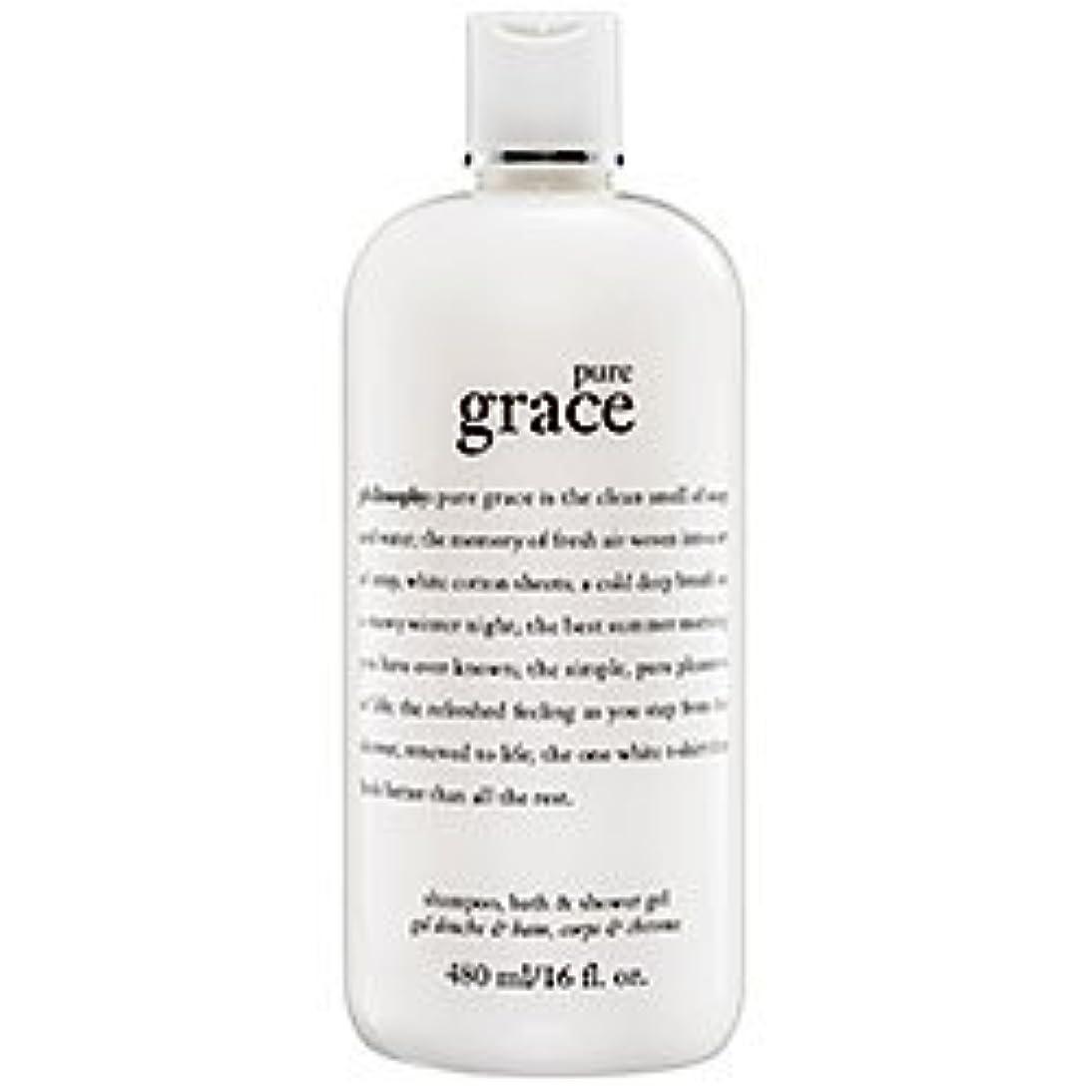 手水平わざわざpure grace (ピュアグレイス ) 16.0 oz (480ml) foaming bath and shower gel for Women
