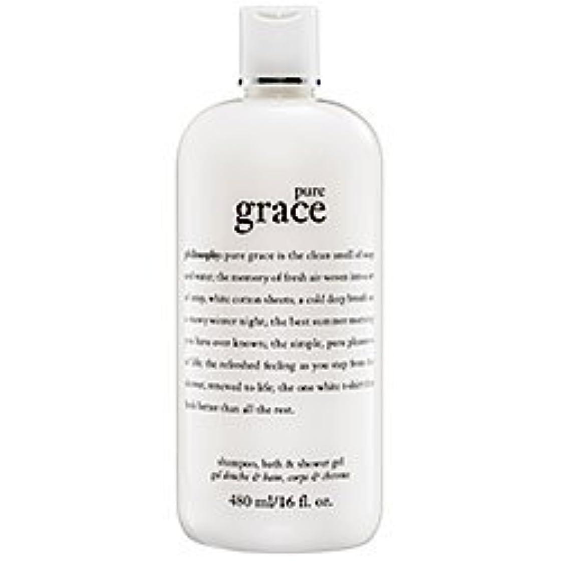 粘性の八百屋バンカーpure grace (ピュアグレイス ) 16.0 oz (480ml) foaming bath and shower gel for Women