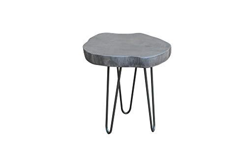 DuNord Design bijzettafel 43 cm acacia massief hout grijs industrieel design