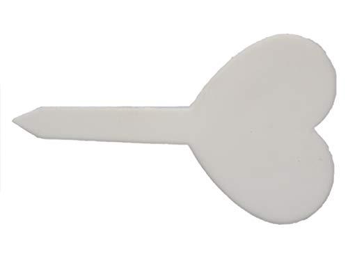 Etiquettes en Plastique Blanc Coeur à Planter x 5 - Plastic Labels Clover to Plant x 5 - SEM13