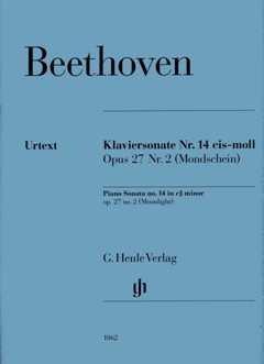 SONATE 14 CIS-MOLL OP 27/2 (MONDSCHEINSONATE) - arrangiert für Klavier [Noten / Sheetmusic] Komponist: BEETHOVEN LUDWIG VAN