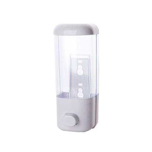 Cabilock Dispensador de jabón Fuerte Montaje en Pared Manual de Mano Champú líquido Gel de Ducha Dispensador de loción Recipiente para baño de Oficina Cocina - 22x8.3cm (Blanco)