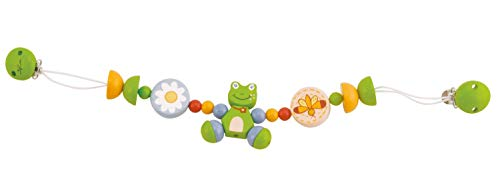 Bieco 44011004 Ketting, autoketting om te spelen en grijpen voor kinderen vanaf de geboorte FROGGY groen