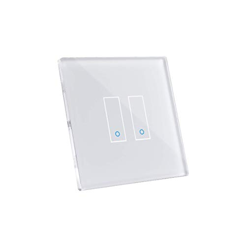 iotty Smart Switch modèle E2 -Double Inrerrupteur Wi-Fi facile à installer pour l'automatisation de votre maison. Blanc