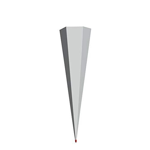 ROTH Schultüten-Rohling zum Basteln grau 85cm 6-eckig mit Rot(h)-Spitze ohne Verschluss