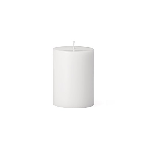 Torre & Tagus 901758A Prime Palm Wax Pillar Candle 3 by 4-Inch, White