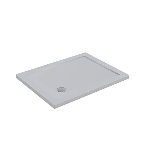 Piatto Doccia 70x120 Acrilico Bianco Lucido Ultraslim Altezza 4cm Piletta Inclusa