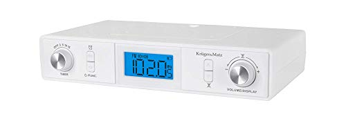 Krüger&Matz KM0817 - Radio de Cocina con Bluetooth (Pantalla LCD, Temporizador, Despertador)
