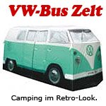 ERRO VW Bulli mintgrün, Camping Bus Zelt - Bully Camper Zelt. Kreative Geschenkidee - Das ideale Geburtagsgeschenk Camping- und Autoliebhaber.