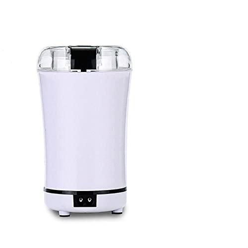 GDYJP Mini Cocina Amoladora eléctrica Amoladora de café Cereales Tuercas Frijoles Especias Granos molienda máquina Multifuncional Hogar (Color : White, Plug Type : US)