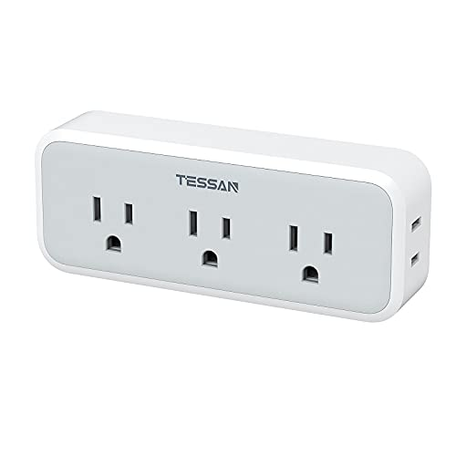 Multi Plug Outlet Extender, TESSAN Surge Protector Wall Plug Splitter with 5 Electrical Outlet Expander, Multiple Plug Adapter for Travel Home Office