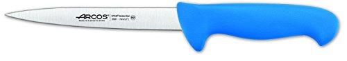 Arcos Séries 2900 - Couteau à Poisson - Lame Acier Inoxydable Nitrum 170 mm - Manche Polypropylène Couleur Bleu