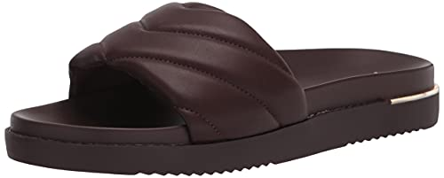 ALDO Women's ACASWEN Slide Sandal, Dark Brown, 7.5