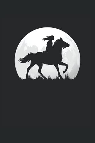 Reiterin reitet auf Pferd: Liniertes Notizheft, Notizbuch, Tagebuch, ToDo, Aufgabenbuch, Aufgabenheft, Schreibheft (15,24 x 22,86 cm;ca. A5) 120 ... von Pferden, Pferd, reiten, Pferdebesitzer.