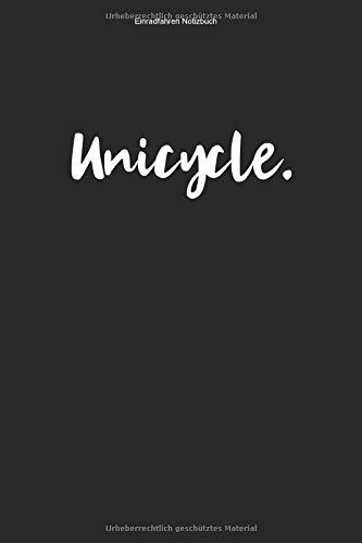 Einradfahren Notizbuch: 100 Seiten | Punkteraster Inhalt | Fahrer Fahren Geschenk Unicycle Hobby Einradfahrerin Einräder Liebhaber