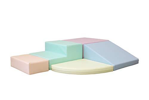 IGLU 5 XL Bloques de Espuma Figuras de Construcción Juguete para Aprendizaje Creativo Infantil Conjunto de Cubos Multicolores