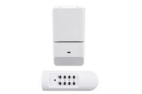 HUBER COMFY 5 Funkschalter Outdoor Set für den Innen-und Außenbereich, eine Funksteckdose IP44 1100 Watt und eine Fernbedienung, Plug & Play