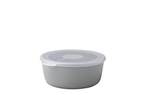 Mepal Schale mit Deckel volumia 1 L, Plastik, Grau, 19 x 17.2 x 7.2 cm