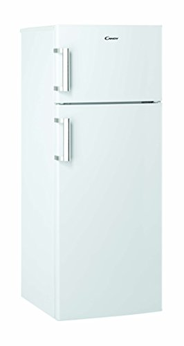 Candy CCDS 5144 WH Kühl-Gefrier-Kombination/A++ / 143 cm Höhe / 169 kWh/Jahr / 166 L Kühlteil / 38 L Gefrierteil/Edelstahlhandgriff/LED Licht/weiß