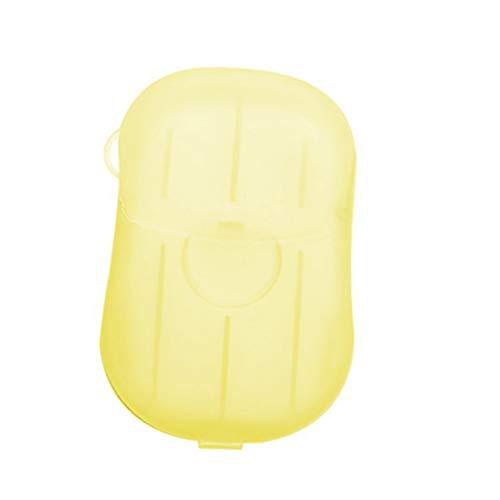 Tongina 1 caixa de sabão papel sabão descartável lavagem limpeza mão para cozinha toalete viagem ao ar livre acampamento caminhadas - Amarelo