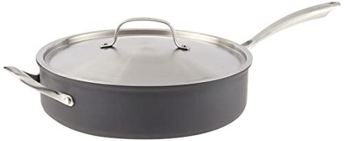 Cuisinart GG33-30H GreenGourmet Hard-Anodized Nonstick 5-1/2-Quart Saute Pan with Helper Handle and Cover