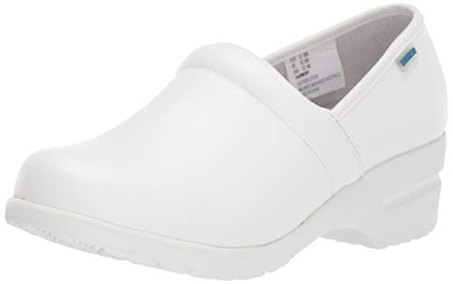 Cherokee Women's Harmony Step-In Padded Collar Shoe,White Wide,7 W US