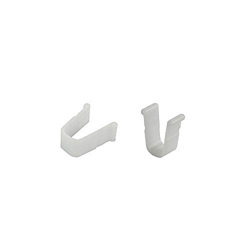rewagi Endfeststeller 10x12 mm für Gardinenschienen, Vorhangschienen - Farbe weiß - Verkaufseinheit: 6 Stück