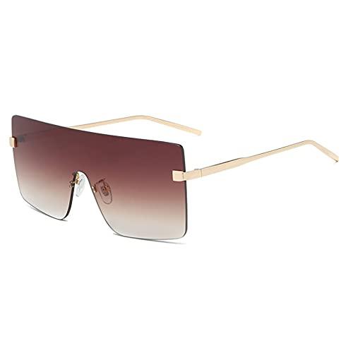 DAIDAICDK Gafas de Sol de Gran tamaño para Mujer Gafas de Sol sin Montura para Mujer Gafas sin Marco Accesorios para Coche al Aire Libre