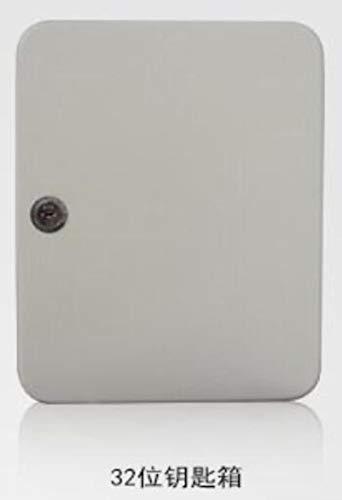CDFD-sleutelkast afsluitbare metalen doos met 20 tags, wandmontage, beveiligingssleutel, opslag, vastgoedbeheerbedrijf, thuiskantoor, 32 haken (sleutel)