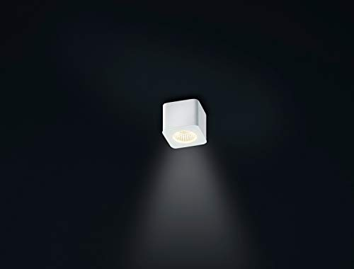 Helestra Oso 5W LED Aufbaustrahler weiß matt 65 x 65 mm Aufbauspot eckig abgerundet IP44 2800K
