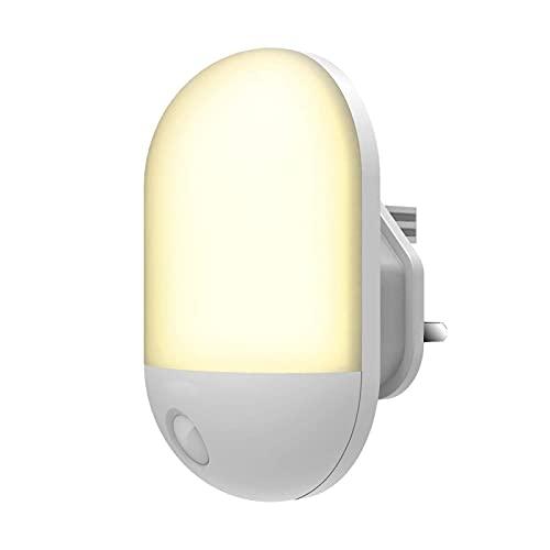 N\C LED Night Light, Intelligent Light Control Baby Night Light, Automatic crepúsculo to Dawn Sense Night Light Plug, Children 's Room, Corridor, Nurse, Pass, etc. 美规