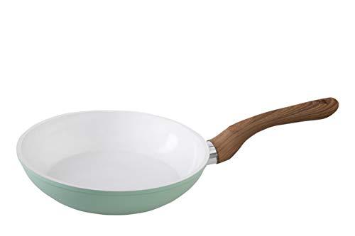 wenco Bratpfanne, Ø 20 cm, Aluminium mit Keramikbeschichtung, Induktionsgeeignet, Professional, Türkis/Weiß/Braun, 539265