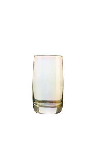Creatable, 21346, Serie SHINY Gold, Longdrinkgläser 4 teilig, Glas