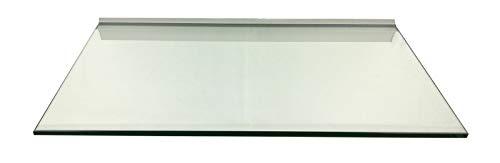 Regale4You Glasregal: 60x40 cm KlarGlas 10 mm mit Profil LINO10 komplett mit Befestigung / 1 Wandregal