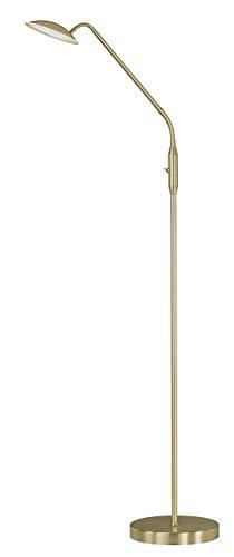 WOFI Standleuchte, Metall, Integriert, 12 W, Messing Matt, 23 x 23 x 135 cm