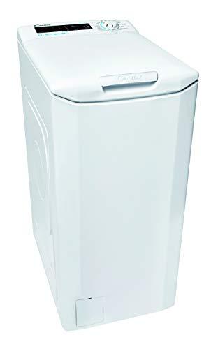 Candy Smart CSTGC 48TE/1-84 Waschmaschine Toplader / 8 kg / 1400 U/Min. / Mix Power System/Gentle Touch Öffnungsmechanismus/Smarte Bedienung mit NFC-Technologie/deutsche Bedienblende, weiß