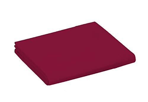 UNIVERS-DECOR Drap Plat 57 Fils/cm² 240 x 300 cm Rouge