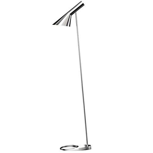 AJ Floor Lamp, Louis Poulsen, Lámpara de Pie Diseñada por Arne Jacobsen (Acero Inox Pulido)
