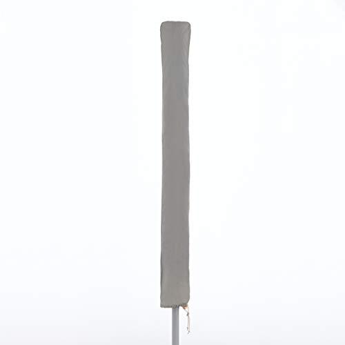 doppler Gartenschirmhülle Basic für Sonnenschirme bis 250 cm - Für perfekten Sonnenschirm Schutz - Wetterfest - Hellgrau